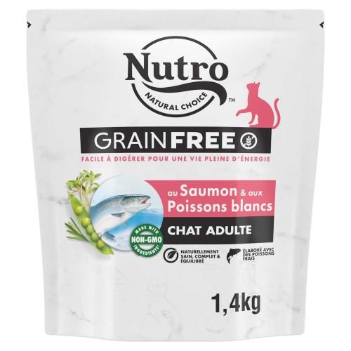 Alimentation pour chat - Nutro Grain Free chat adulte au saumon et poissons blancs pour chats