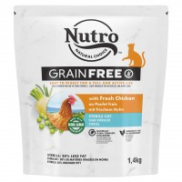 Croquettes pour chat - Nutro Grain Free Sterilised Adult Nutro