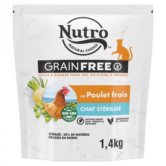 Alimentation pour chat - Nutro Grain Free chat adulte stérilisé au poulet frais pour chats