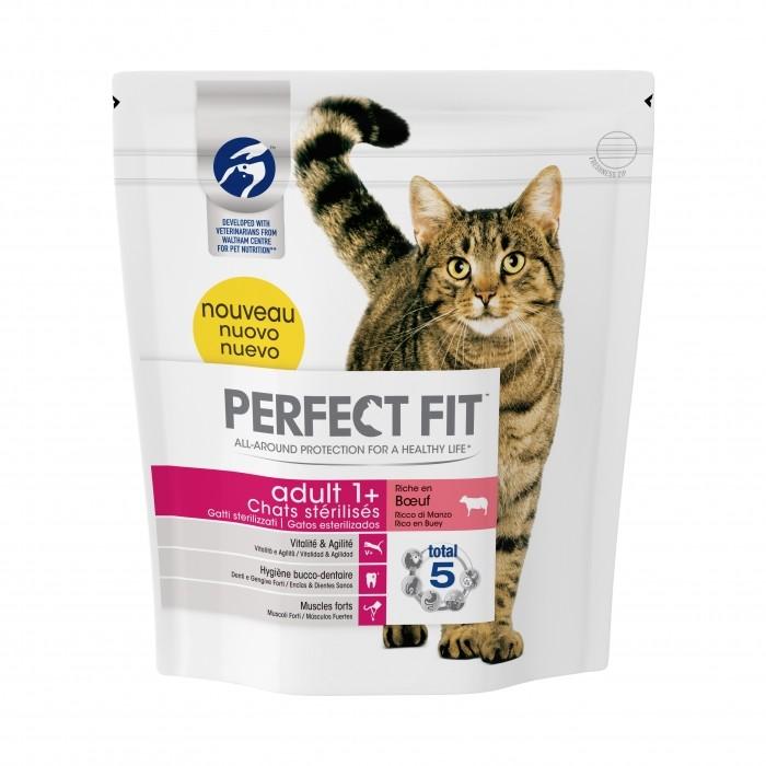 Alimentation pour chat - PERFECT FIT Adult 1+ chats stérilisés Boeuf pour chats