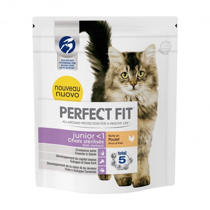 Alimentation pour chat - PERFECT FIT Junior < 1 chats stérilisés pour chats