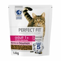 Croquettes pour chat - PERFECT FIT Adult 1+ chats stérilisés Saumon Adult 1+ chats stérilisés Saumon