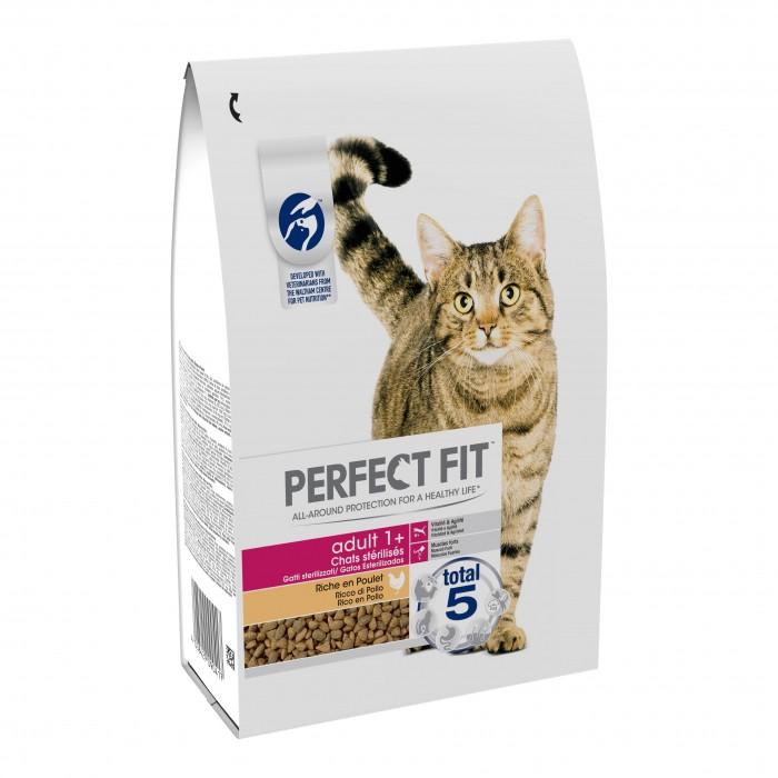 Alimentation pour chat - PERFECT FIT Adult 1+ chats stérilisés Poulet pour chats