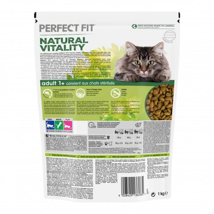 Alimentation pour chat - PERFECT FIT™ Natural Vitality chats adultes - Saumon et poissons blancs pour chats