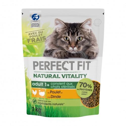 Alimentation pour chat - PERFECT FIT™ Natural Vitality chats adultes - Poulet et dinde pour chats