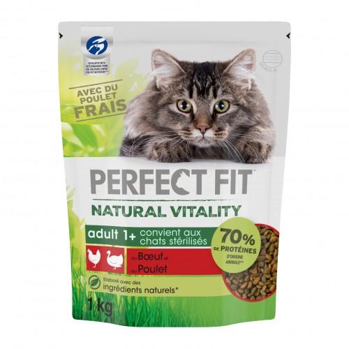 Alimentation pour chat - PERFECT FIT™ Natural Vitality chats adultes - Boeuf et poulet pour chats