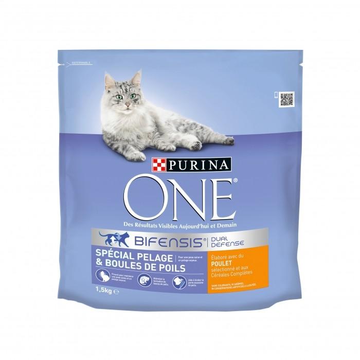Alimentation pour chat - PURINA ONE Spécial Pelage et Boules de Poils pour chats