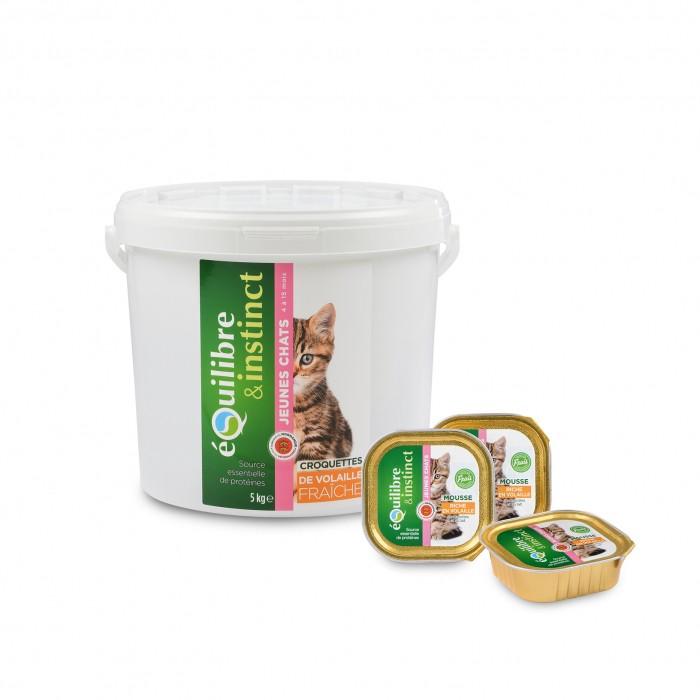 Alimentation pour chat - EQUILIBRE & INSTINCT Kitten - Lot 16 x 100g pour chats