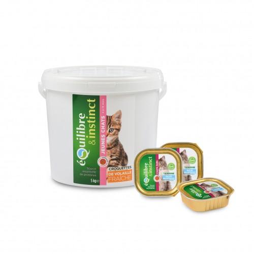 Alimentation pour chat - EQUILIBRE & INSTINCT Senior - Lot 16 x 100g pour chats