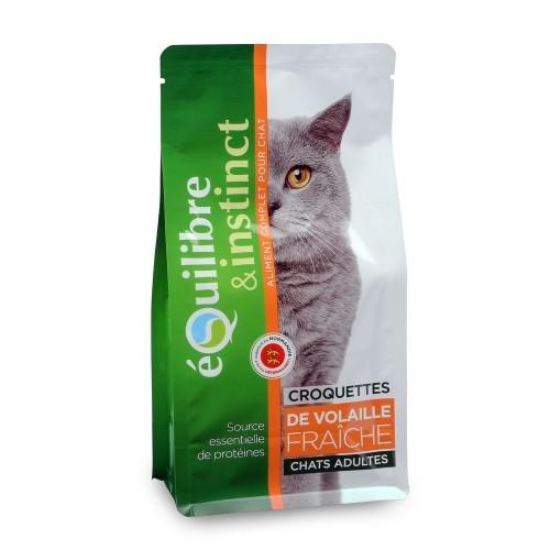 Alimentation pour chat - EQUILIBRE & INSTINCT Adulte Volaille pour chats