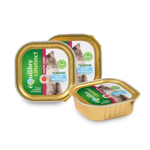 Alimentation pour chat - EQUILIBRE & INSTINCT Senior - Lot 16 x 100g pour chats
