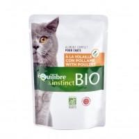 Sachet fraîcheur pour chat - EQUILIBRE & INSTINCT Adult Mitonné Bio - Lot 22 x 100 g
