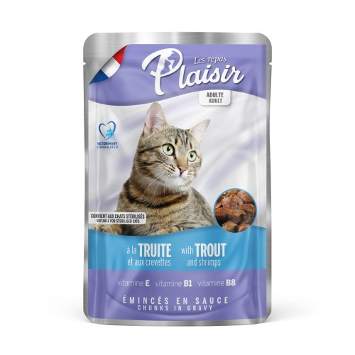 Sachet fraîcheur pour chat - REPAS PLAISIR Adulte