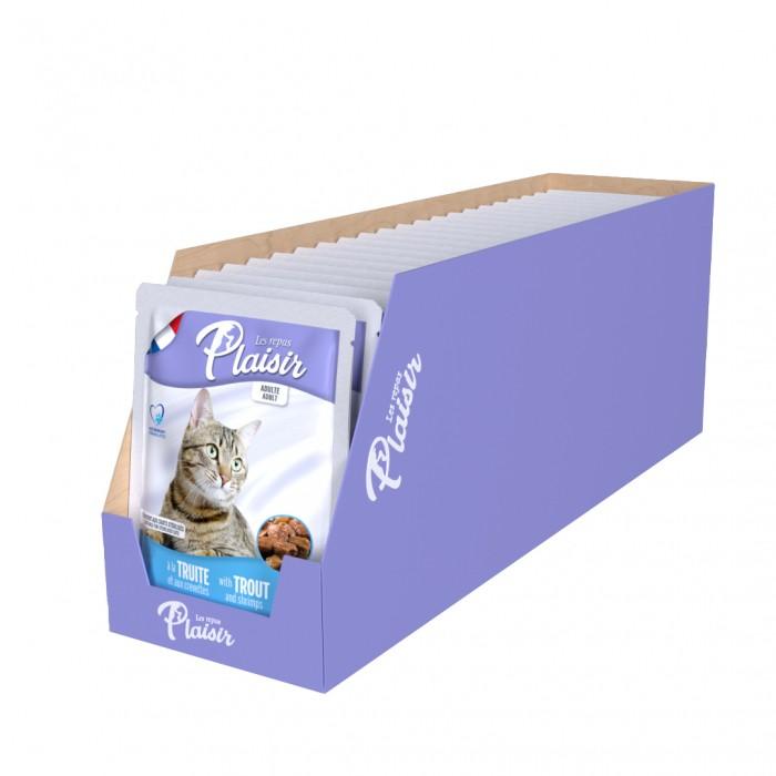 Alimentation pour chat - REPAS PLAISIR Adulte Stérilisé- Lot 22 x 100 g pour chats