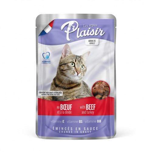 Alimentation pour chat - REPAS PLAISIR Adulte - Lot 22 x 100 g pour chats
