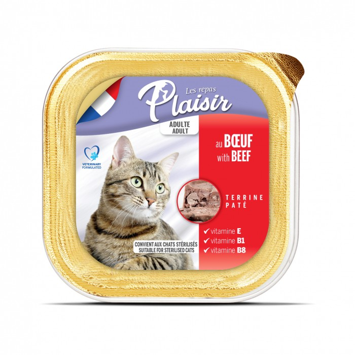 Alimentation pour chat - REPAS PLAISIR Adulte Stérilisé - Terrine pour chats