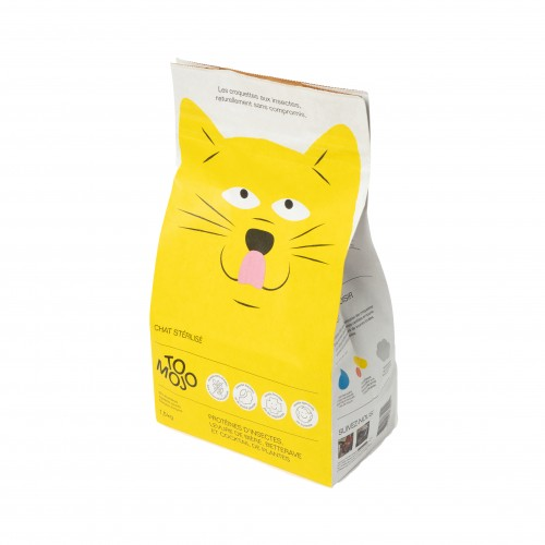 Alimentation pour chat - TOMOJO Croquettes aux insectes - Chat stérilisé pour chats