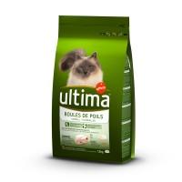 Croquettes pour chat - Ultima Boules de poils Boules de poils