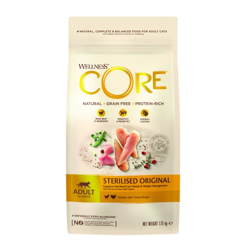 Alimentation pour chat - Wellness CORE Sterilised - Poulet et Dinde pour chats
