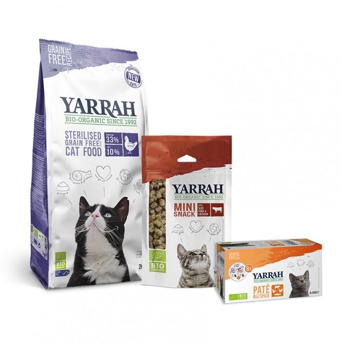 Alimentation pour chat - Yarrah, Pack découverte pour chat adulte stérilisé pour chats