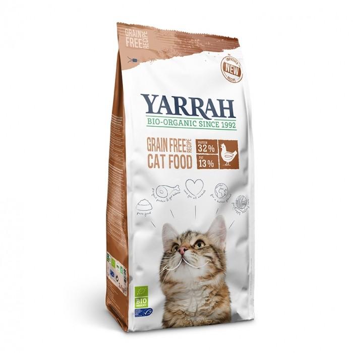 Alimentation pour chat - Yarrah Croquettes biologiques sans céréales pour chats