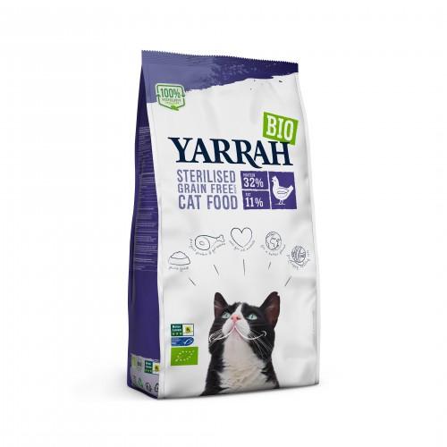 Alimentation pour chat - Yarrah Croquettes biologiques pour chat stérilisé pour chats