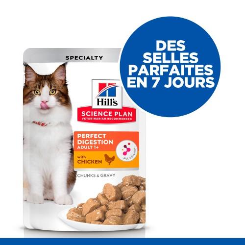 Alimentation pour chat - Hill's Science Plan Perfect Digestion Adult - Pâtées pour chat pour chats