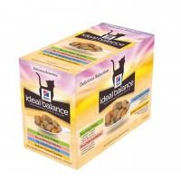 Sachet fraîcheur pour chat - HILL'S Ideal Balance Feline Adult - Lot 12 x 85 g