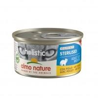 Pâtée en boîte pour chat - Almo Nature Holistic Fonctionnel Sterilised - 24 x 85 g