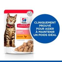 Sachet fraîcheur pour chat - HILL'S Science Plan  Adult Light - Lot 12 x 85 g