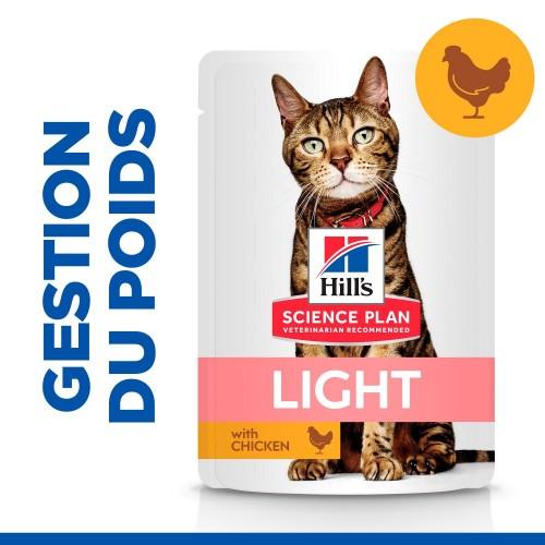 Alimentation pour chat - Hill's Science Plan Light Adult pour chats