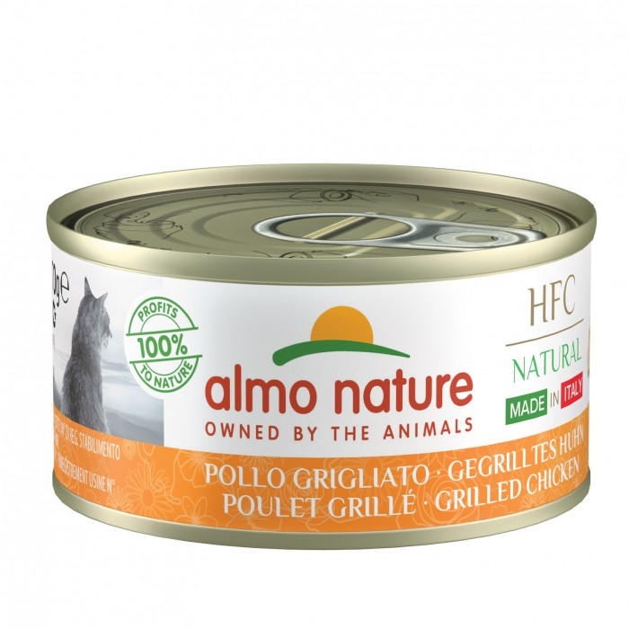 Alimentation pour chat - Almo Nature HFC Natural Made in Italy Grain Free - 6 x 70 g pour chats