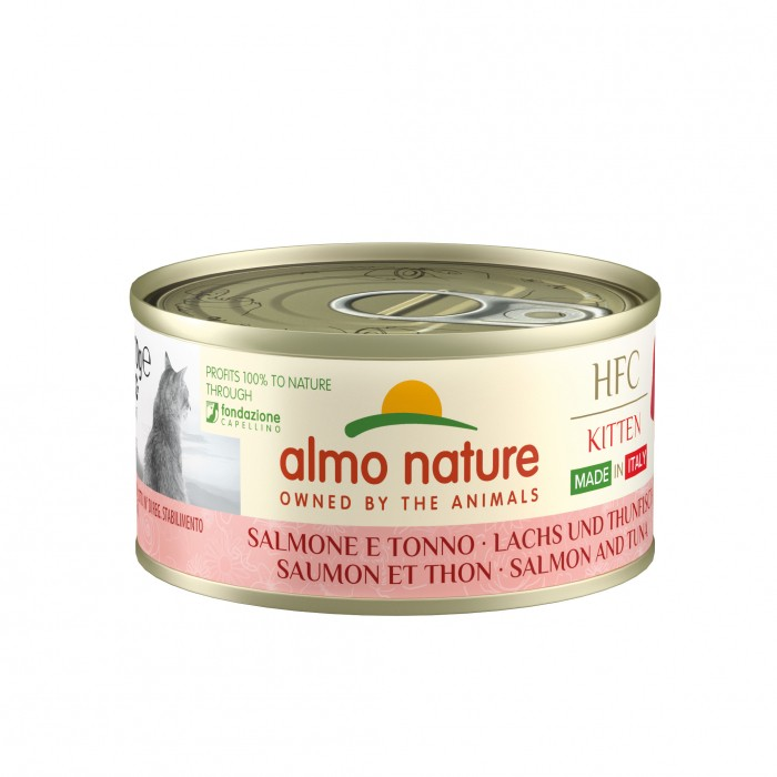 Alimentation pour chat - Almo Nature HFC Complete Made In Italy Kitten - Lot de 24 x 70 g pour chats