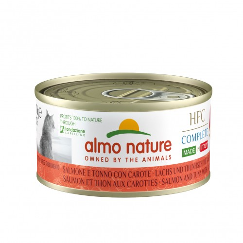 Alimentation pour chat - Almo Nature HFC Complete Made In Italy Adult - Lot de 24 x 70 g pour chats