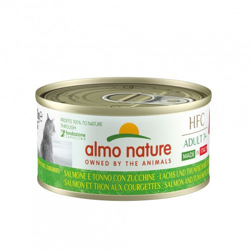 Alimentation pour chat - Almo Nature HFC Complete Made In Italy Adult+ - Lot de 24 x 70 g pour chats