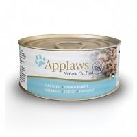 Pâtée en boîte pour chat - APPLAWS Boîtes en bouillon Adulte - 24 x 70 g