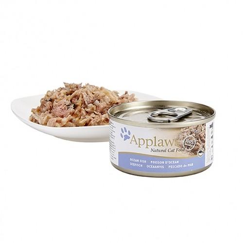 Alimentation pour chat - APPLAWS Boîtes en bouillon Adulte - 24 x 70 g pour chats