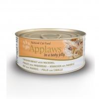 Pâtée en boîte pour chat - APPLAWS Boîtes en gelée Adulte - 24 x 156g