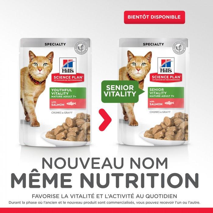 Alimentation pour chat - Hill's Science Plan Senior Vitality Adult 7+ pour chats