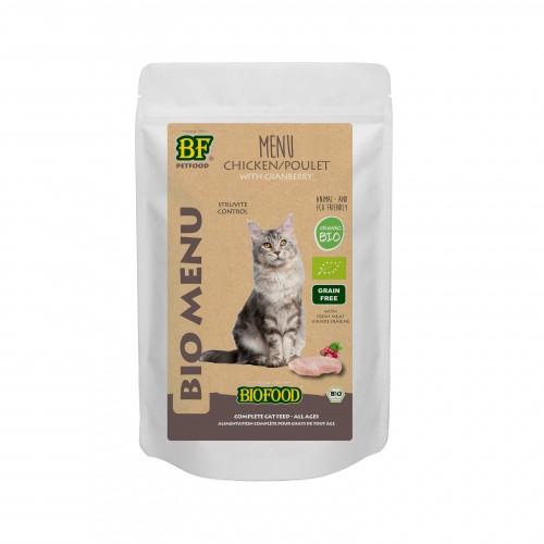 Alimentation pour chat - Biofood Menu BIO Chat pour chats