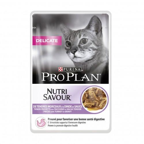 Alimentation pour chat - Proplan Nutrisavour Delicate en sauce pour chats