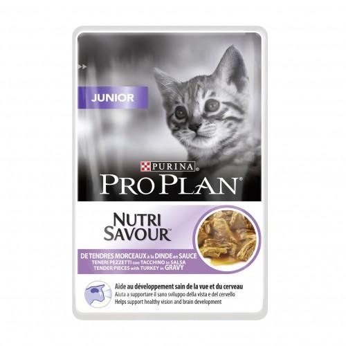 Alimentation pour chat - Proplan Nutrisavour Junior en sauce pour chats