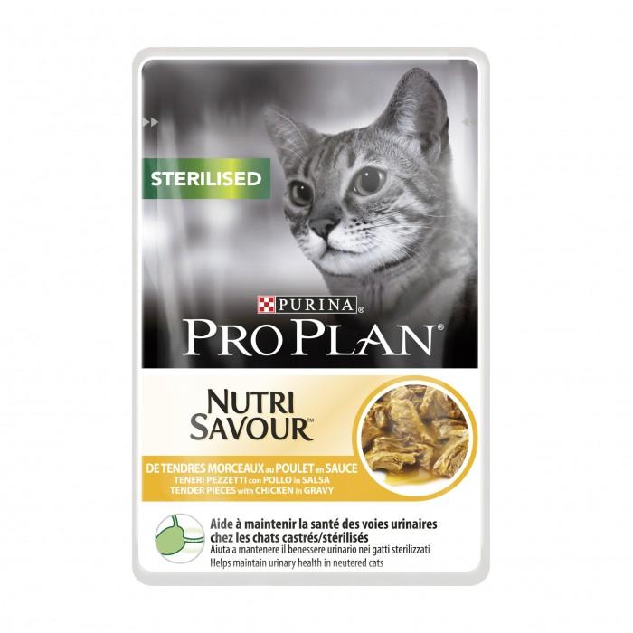 Alimentation pour chat - Proplan Nutrisavour Sterilised en sauce pour chats