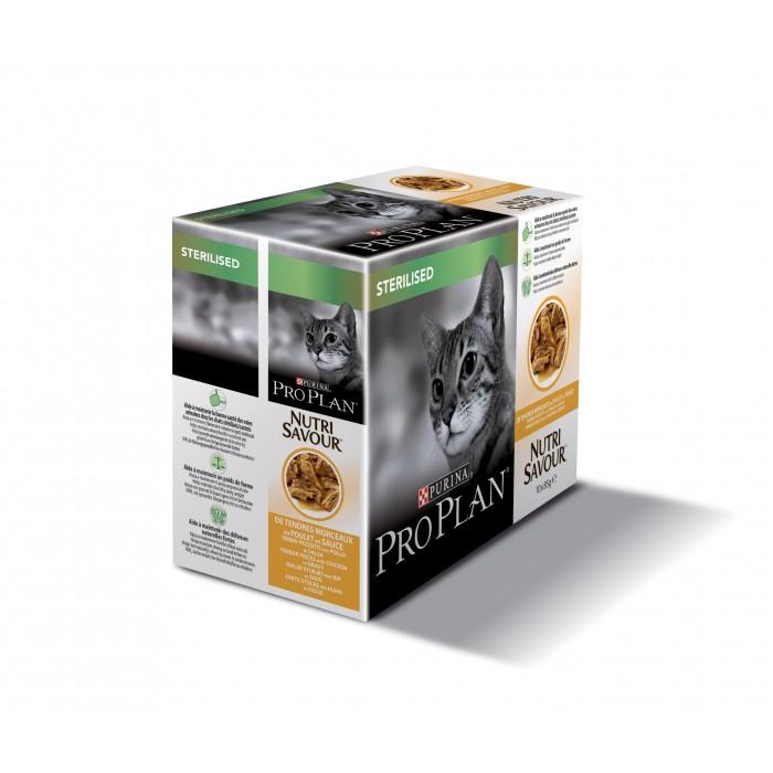 Alimentation pour chat - Proplan Nutrisavour Sterilised pour chats