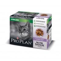 Pâtée en sachet pour chat - PURINA PROPLAN Nutrisavour Sterilised en gelée