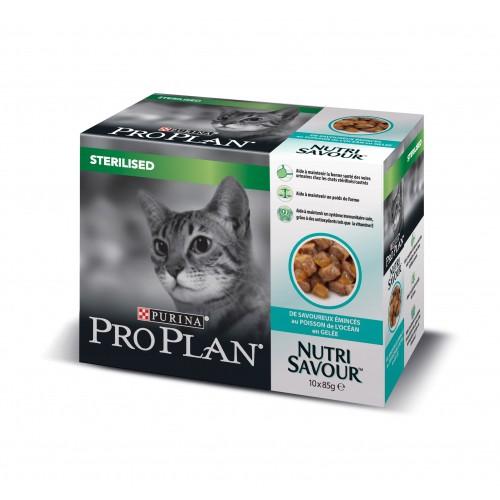 Alimentation pour chat - Proplan Nutrisavour Sterilised en gelée pour chats