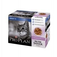 Pâtée en sachet pour chat - PURINA PROPLAN Nutrisavour Adult 7+ en sauce