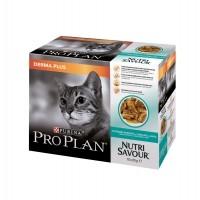 Pâtée en sachet pour chat - PURINA PROPLAN Nutrisavour Derma Plus en sauce