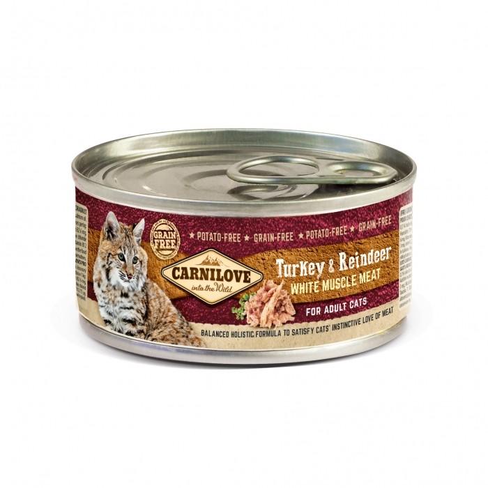 Alimentation pour chat - CARNILOVE Pâtée Adulte à la viande blanche pour chats