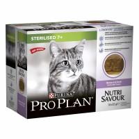 Pâtée en sachet pour chat - Proplan Nutrisavour Sterilised 7+ Longevis en mousse Proplan